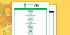 Harvest Book List