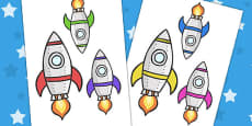 Space Rocket Cut Outs