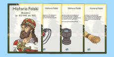 Mieszko I Timeline fact cards Polish