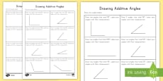 * NEW * Drawing Additive Angles Activity
