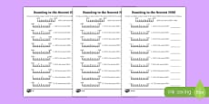 Rounding to 1000 Differentiated Activity Sheet Pack