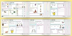 Year 1 Spelling, Punctuation and Grammar Activity Mats Pack