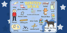 Word Mat to Support Teaching on Biscuit Bear
