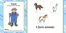 Farm Counting to 10 Cut and Paste Booklet