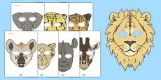 Safari Animals Role-Play Masks
