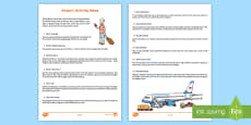Airport Ideas Activity Sheet