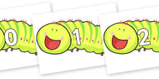 Numbers 0-100 on Crunching Munching Caterpillar to Support Teaching on The Crunching Munching Caterpillar