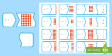 Multiplication Matching Puzzle Game