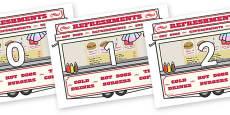 Numbers 0-31 on Fairground Food Vans