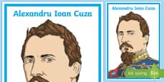 * NEW * Alexandru Ioan Cuza Planșă cu diferite dimensiuni