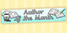 Author of the Month Display Banner