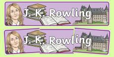 J K Rowling Display Banner