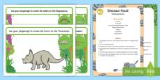 Dinosaurs Playdough Recipe and Mat Pack
