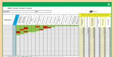 Y2 Grammar, Punctuation and Spelling Analysis Grid for KS1 2017 SATs Past Paper Assessment Spreadsheet