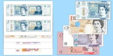 Maths Intervention Realistic Size Banknotes