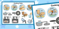 Cooking Verbs Display Poster