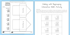 Addition with Regrouping Interactive Math Activity