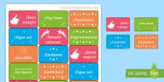 Classroom Reward Stickers -  Spanish