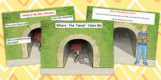 Where The Tunnel Takes Me - Predicting the Plot of The Tunnel Differentiated Lesson Teaching Pack (Flipchart) to Support Teaching on The Tunnel