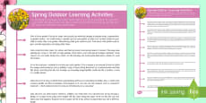 Spring Outdoor Learning Activities Parent and Carer Information Sheet