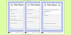 The Gingerbread Man Police Report Differentiated Activity Sheet Pack