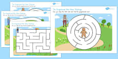 The Gingerbread Man Differentiated Maze Activity Sheets