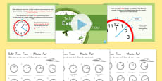 Telling the Time Exact Minutes Past Differentiated Lesson Activity Pack