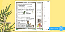 KS2 Easter Differentiated Comprehension Go Respond  Activity Sheets