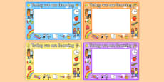 Editable 'We Are Learning Today' Display Signs