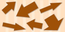 Brown Directional Arrows Cut Outs
