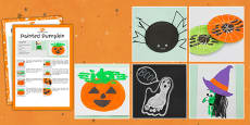 Halloween Themed Craft Activity Pack