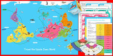 Christmas Around the World Universally Corrective Map Game