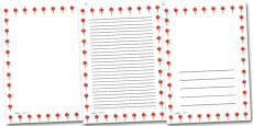 Chinese Lantern Portrait Page Borders