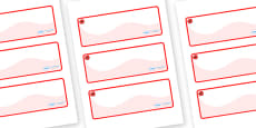 Poppy Themed Editable Drawer-Peg-Name Labels (Colourful)