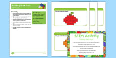 Building Brick Fruit STEM Activity and Prompt Card Pack to Support Teaching on The Very HUngry Caterpillar