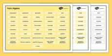 KS3 Maths Word Mat Algebra