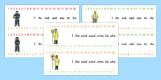 Number and Alphabet Strips (People Who Help Us)