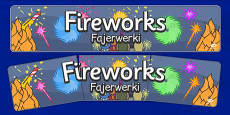 Bonfire Night Banners Fireworks Polish Translation