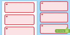 Ruby Red Themed Editable Drawer-Peg-Name Labels (Colourful)