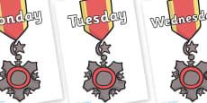 Days of the Week on Medal