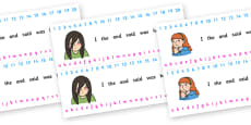 Number and Alphabet Strips (Ourselves)