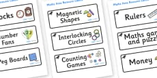 Raven Themed Editable Maths Area Resource Labels