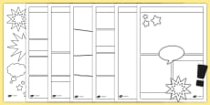 Blank Comic Book Templates