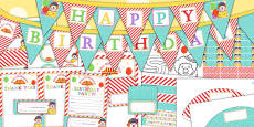 Circus Themed Birthday Party Pack