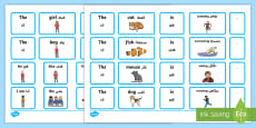 Sentence Builder Cards with Verbs Arabic/English