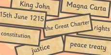 The Magna Carta Word Cards