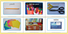 School Objects Photo Pack