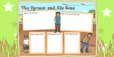 The Farmer and His Sons Book Review Writing Frame
