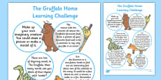 EYFS Home Learning Challenge Sheet to Support Teaching The Gruffalo Reception FS2