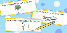 Right And Left Drawing Activity Sheet